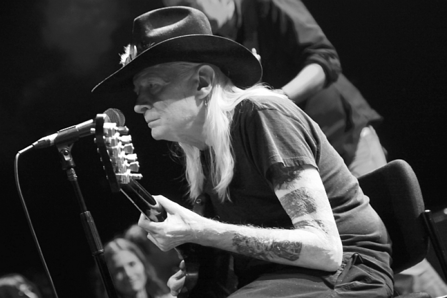 Johnny Winter v Lucerna Music Baru 2011